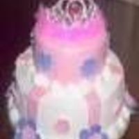 Pink Tiar two tier cakes with mmf.
