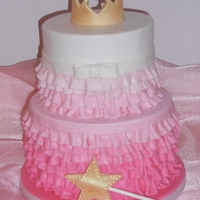 Priness Ruffles Ruffles, tiara, & wand done in MMF. Glad to do a princess themed cake that wasn't a castle :-) TFL!
