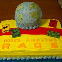 Rose's Amazing Race   For my niece's Amazing Race themed party, buttercream with fondant details.