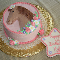 Pink Horse Cake  A vintage wilton pan that makes a horse head dimintional cake instead of the star tip I smoothed it out as much as possible. The star is...