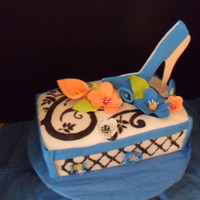Practice Cake Trying Stencil And Gum Paste Shoe