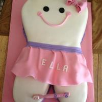Ella's Cake all fondant and gum paste bow and toothbrush
