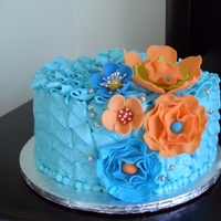 Mothers Day Cake all buttercream gum paste flowers