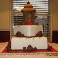 Carolina Christmas  I did this cake for the NC State FairIt was my very first competition. So I kept it simple, I was very excited when it took a first place...