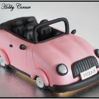 Pink Cab A pink car for my 18 year old daugther. Made of chocolate cake.