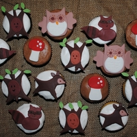 Forest Critters Cupcakes