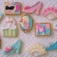 Marie Antoinette Cookie Assortment My friend asked for Marie Antoinette themed cookies for her birthday. Here is what I came up with! Sugar cookies covered with rolled...