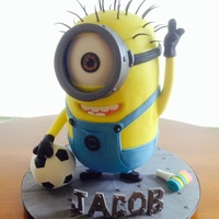 Minion Birthday Cake Made Kevin for my DGS birthday. This one was so much fun!
