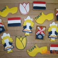 Assorted Dutch Cookies  Did a little collection of Dutch-themed cookies for a birthday girl born in Holland.....wooden shoes, flags, Dutch girls, windmills, tulips...