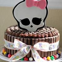 Monster High Cake The 8 Year Old Birthday Girl Wanted An All Chocolate Cake Covered With Candy Bars This Is A Triple Chocolate Cake Fille Monster High Cake. The 8 year old birthday girl wanted an all chocolate cake covered with candy bars. This is a triple chocolate cake...
