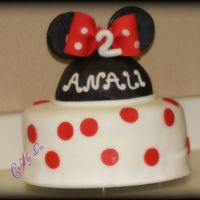 Minnie Mouse This cake traveled from CA to NV and it made it! It's a butter cake with peaches and cream