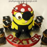Minion Pirate   Minion Pirate cake and cupcakes for Dexter's 3rd birthday.