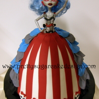 Monster High Doll Birthday   Vanilla cake with vanilla bc. All fondant detail.