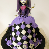 Monster High   Monster High Cake (inspired by Vanilla Lane). Chocolate cake with chocolate buttercream and salted caramel filling.