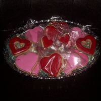 Valentine Cookies NFSC with RBC heart cookies. I did 46 trays.