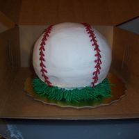 Baseball Cake Pound cake made in wilton ball pans.