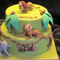 Jungle Cake Jungle Cake for my daughters birthday