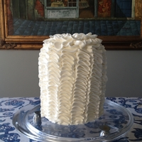 "Ruffles 6"" rainbow cake. This uses A LOT of icing!!!"