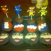 Grateful Dead grateful dead cupcakes I replicated from a picture sent to me by a friend
