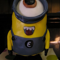 Birthday Minion Solid fondant about 10 inches high.
