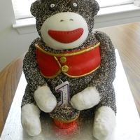 Sock Monkey Birthday Cake For A Friends Child