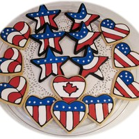 4Th Of July Independence Day Cookies NFSC and Chocolate NFSC with Antonia74 Royal Icing. Credit for design goes to Sweetriley and CookieD-oh who also credits JenWhitlock. I...