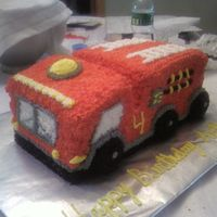 Fire Truck Front View   Made with BC all piped with star tip.