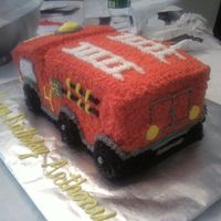 Fire Truck Back View All made with BC piped with star tip.