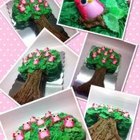 This Is My Owls In Tree Cake I Know Its Been Done Several Times Before Its Just Such A Cute Design Not Sure Who To Give Credit To For T This is my owls in tree cake :) I know its been done several times before, its just such a cute design. Not sure who to give credit to for...