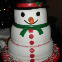 Snowman I TOOK THE IDEA FROM THE CAKE MADE BY twinkletoe21