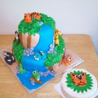 Jungle Cake This was a jungle cake for a one year old with a matching smash cake