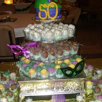Mardi Gras Cake Ball Display