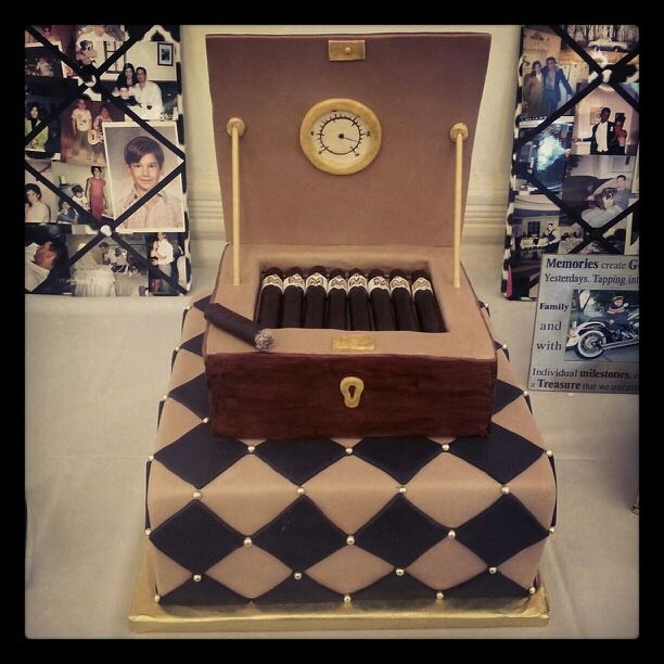 Humidor Cake Humidor is made of RCC covered in fondant, cigars are made of fondant