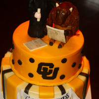 University Of Colorado A cake for a recent graduate. The buffalo is the mascot so we decided a play with the theme -- both are reading the Wall Street Journal! (...