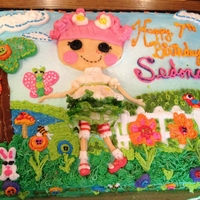 Lalaloopsy doll is made out of fondant and the rest is royal icing