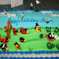 Angry Bird Standoff birds made with fondant
