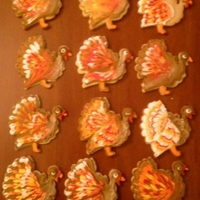 Gobble Gobble Turkey sugar cookies with royal icing