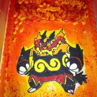 Pokemon-Fire buttercream transfer