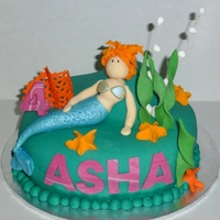 Underwater Mermaid All handmade gumpaste and fondant decos