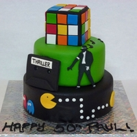 Love The 80's All handmade and edible - Gumpaste and fondant decos, RI Transfer MJ sillhouette