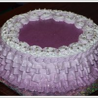 Whipped Cream Purple Cake *whipped cream purple cake