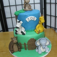 Zoo Birthday Fondant Zoo Animals