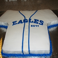 Eagles Jersey   Cake made for a baseball banquet