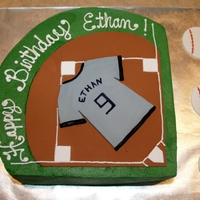 Baseball Birthday Buttercream and fondant
