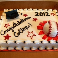 Baseball Graduation 8th grade graduation. Edible baseball and cap.