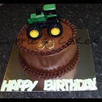 Tractor choc mud with choc ganache