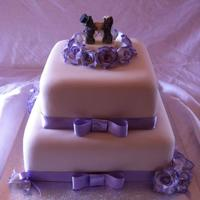 Purple And Ivory Wedding