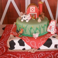 Farm Animals Cake