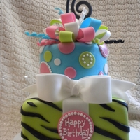Sweet 16 Birthday Bright colors for a girl with a great personality!