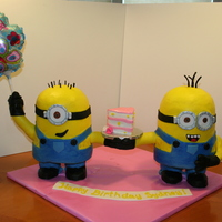 "Despicable Me Minion My daughter loves Despicable Me, and asked for some minions for her birthday. Each Minion was around 15"" tall. Made from 3 stacked 6&..."